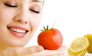 Face-Pack of Tomato Yogurt-And-Lemon-Juice removes dark circles