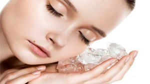 ice massage is a good skin care method