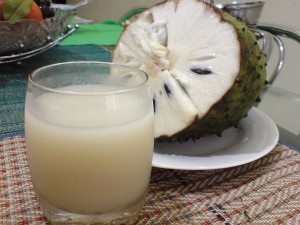 Soursop or graviola juice