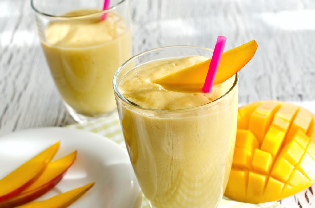Drink with mango and yogurt