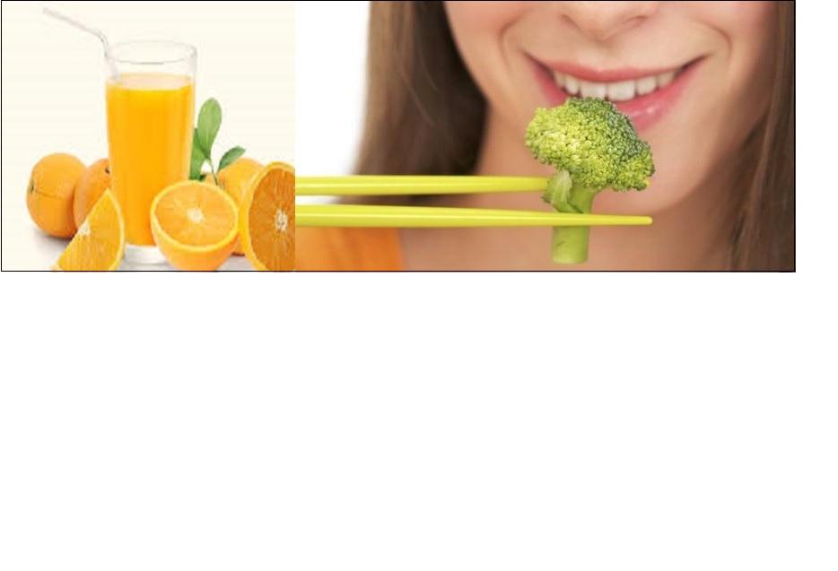 brocoli anorange juice